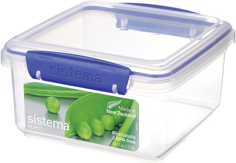 Sistema KLIP IT Food Storage Container/Lunch Plus, Blue Clips, 1.2 Litre £1.75 (Prime) £6.24 (Non Prime) at Amazon