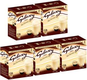 Galaxy White Hot Chocolate Dolce Gusto Compatible Pods Bulk Box 40 Pods £13.99 Prime/£18.48 Non Prime/£11.89 S&S @ Sold by Caffeluxe and FBA