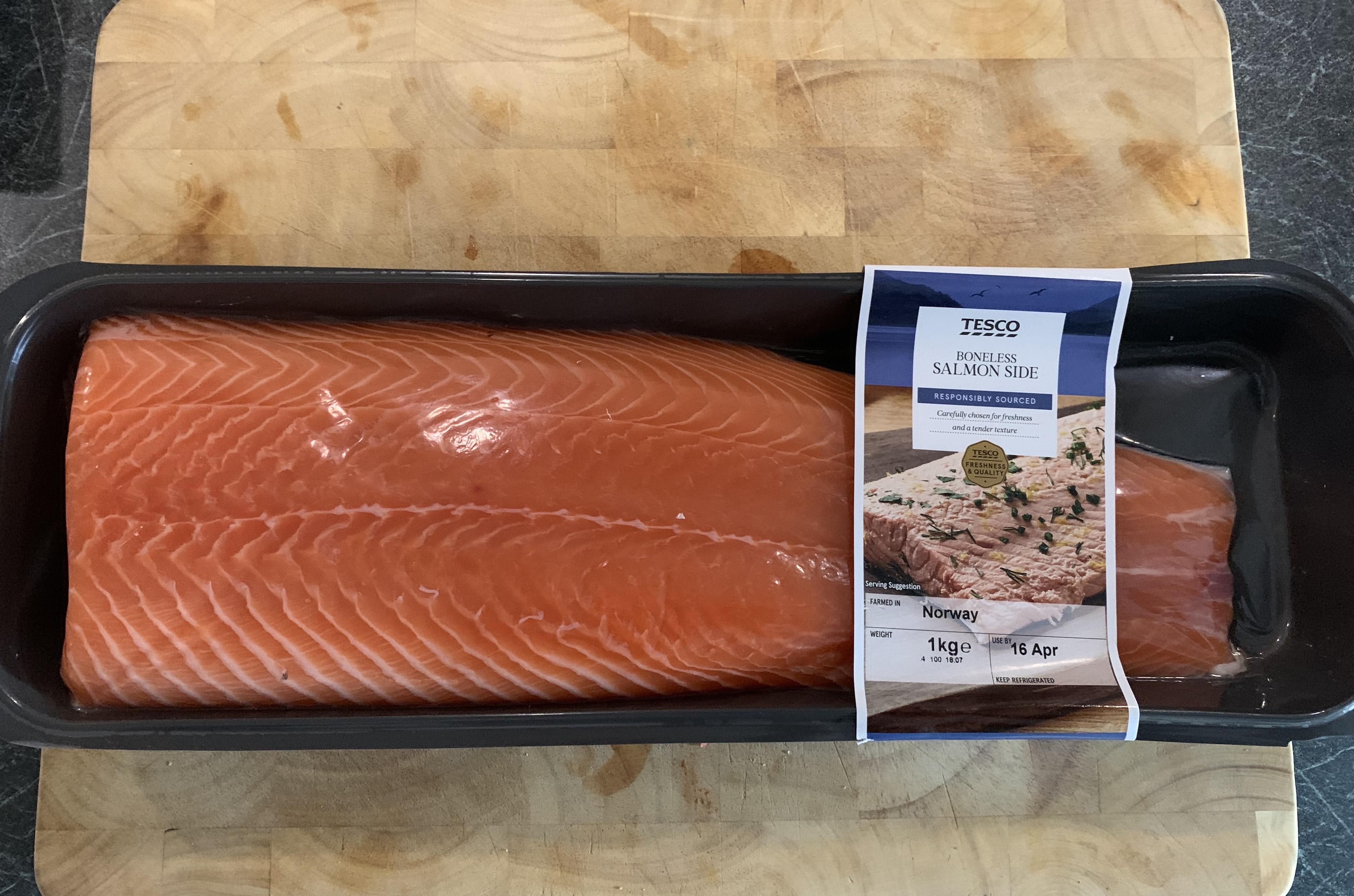 1kg Salmon Side £6 - In Store only @ Tesco Extra Shoreham