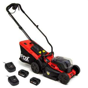 Fox Cordless 40V Lawn Mower 34cm + 2x 20V Batteries & 2 Chargers - £179.99 (With Code) @ ukhomeshopping / eBay
