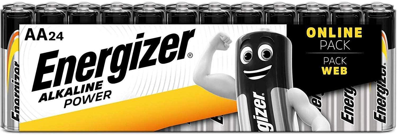Energizer AA Batteries, Alkaline Power Double A Batteries, 24 Pack - £7.99 (+£4.49 non-Prime) @ Amazon