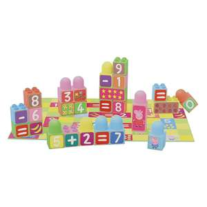 Peppa Pig: Learn the Numbers Blocks £6.48 delivered at Home Bargains
