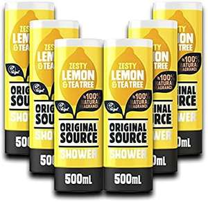Original Source Lemon&Tea Tree Shower 500ml /Coconut&Shea Butter Shower 500ml/Mint&Tea Tree500ml (pack of 6) £11.70 + £4.49 del NP @ Amazon