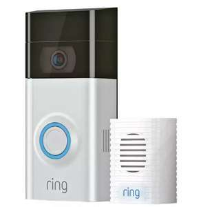 Ring Video Doorbell 2 and Chime Bundle £122 + £3.95 delivery at Argos