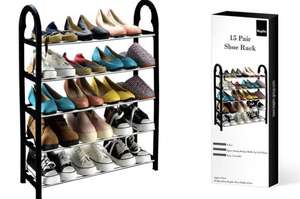 Five Tier Compact Shoe Rack - £8.28 Delivered with code @ Groupon