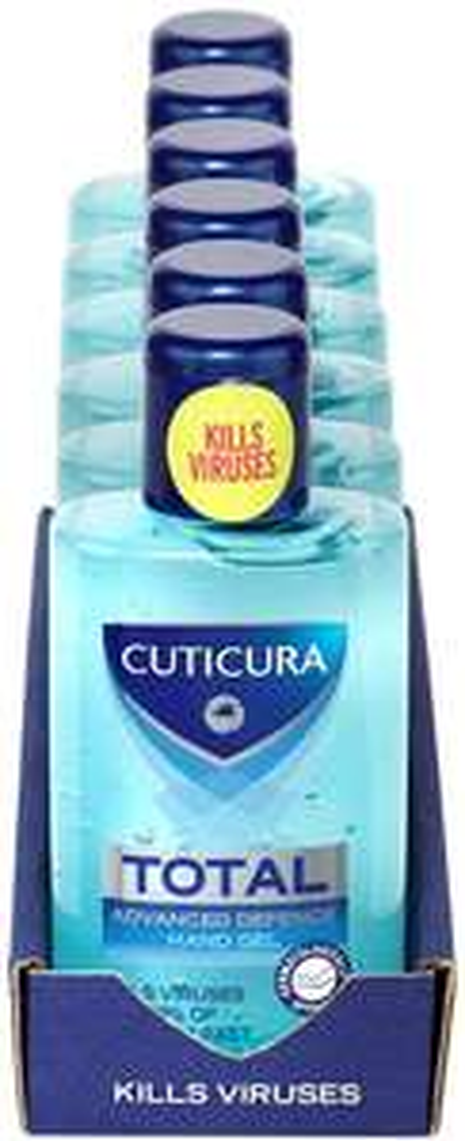 Cuticura Total / Original Advanced hand Gel 100ml [Pack of 6] £8.93 (Prime) £13.42 (Non Prime) at Amazon
