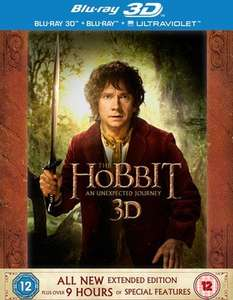 The Hobbit: An Unexpected Journey - Extended Edition 3D Blu Ray + UV Digital (5 Disc) Used £4.59 Delivered @ Music Magpie
