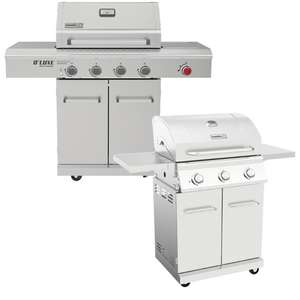 Nexgrill 3 Burner Stainless Steel Gas Barbecue + Cover - £259.99 / Deluxe 4 Burner Gas Barbecue + Side Burner & Cover £399.99 @ Costco