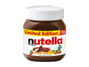 Nutella Hazelnut Chocolate Spread 1KG £3 Lidl NI