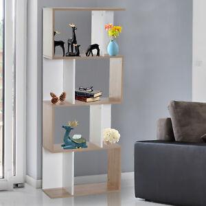 HOMCOM 4-tier S-shape designed shelving or bookcase unit in white for £35.99 delivered (using code) @ eBay / mhstarukltd
