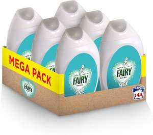 Fairy Non-Bio Laundry Washing Gel 888 ml - Pack of 6 £24 at Amazon (£22.80 Subscribe & Save)