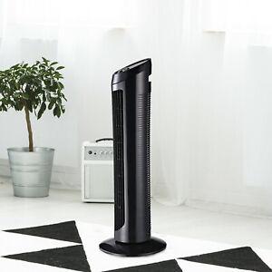 "HOMCOM 30"" Tower Fan Noise Reduction Wind 3-Level Cool ABS White Indoor Black - £26.09 with code @ mhstarukltd eBay"