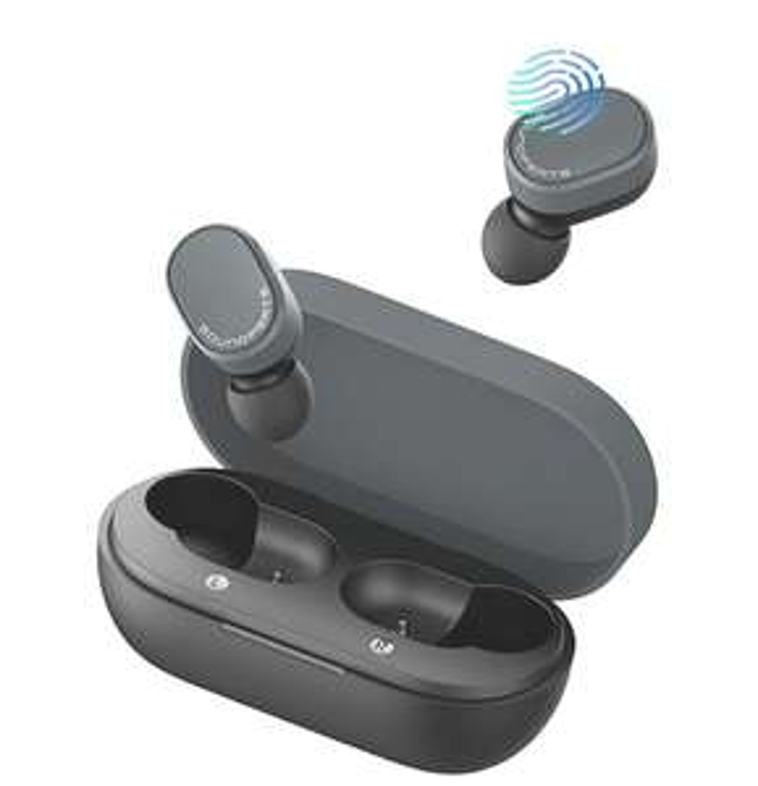 SOUNDPEATS True Wireless Earbuds,7.2mm Composite Driver Bluetooth 5.0 Headphones Smart Touch Control - £23.79 @ TEKTEK-EU FB Amazon