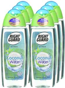 Right Guard Women Coconut Water Shower Gel, 250 ml - Pack of 6 for £6 / £5.70 (+£4.49 Non Prime) @ Amazon
