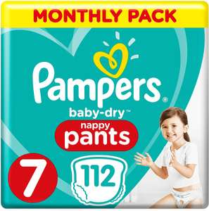 Pampers Baby-Dry Nappy Pants Size 7, 112 Nappy Pants - £20.16 @ Amazon