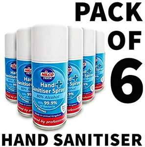 6 Pack of Nilco Aerosol Hand Sanitiser £23.99 @ Amazon Dispatched from and sold by MotorWorld