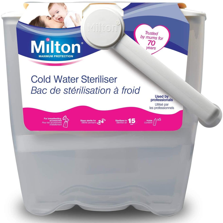 Milton Cold Water Steriliser (White) £9.99 at Amazon Prime (£4.49 non Prime)