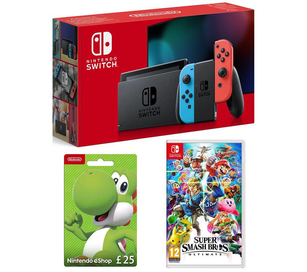 Nintendo Switch, Super Smash Bros. Ultimate & £25 eShop Gift Card Bundle £339.94 @ Currys