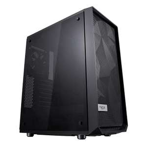 Fractal Design Meshify C - Compact Computer Case - Tempered Glass - Blackout - £59.99 - Amazon Business