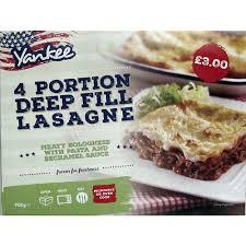 900g Yankee Deep Fill Lasagne 4 Portion. £2 at Heron Foods Abbey Hulton