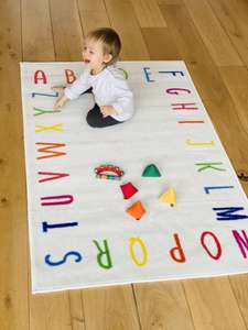 Various Nursery Rugs 100 x 150cm (Tightly Woven Fabric; Hard-Wearing And Easy Wipe Clean) only £9.99 delivered @ The Gift & Gadget Store