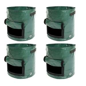 4 Pack of 10 Gallon Potato Bags Tomato Veg Durable Grow Bags with Side Window £13.99 delivered @ JamesBrewster91/eBay
