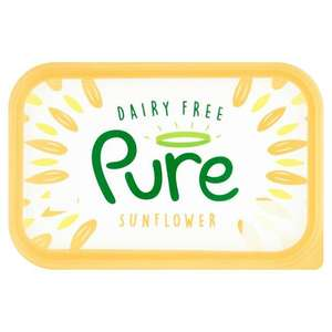 Pure Dairy Free Sunflower Spread 500g £1 at Sainsbury's