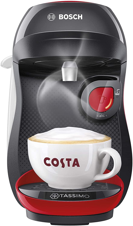 Tassimo Bosch TASSIMO Happy TAS1003GB Coffee Machine (Red & Black/ Red & White) + £20 Tassimo Credit - £29.99 Delivered @ Amazon