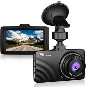"""Claoner Dash Cam 1080P Full HD Dashcam Car Camera DVR Dashboard Camera 3"""" £18.69 Prime + £4.49 NP @ claoner and Fulfilled by Amazon"""