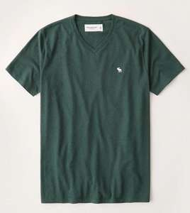 Short-Sleeve Icon V-Neck Tee £9.18 + £5 delivery at Abercrombie & Fitch