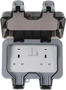 BG Electrical 13A 2 Way Outdoor Mains Socket - WP22-01 £10.20 delivered @ CPC Farnell
