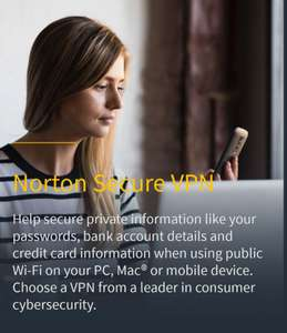 Norton 360 Deluxe (VPN, 50Gb storage, password manager etc) for up to five devices £29.99 @ Norton