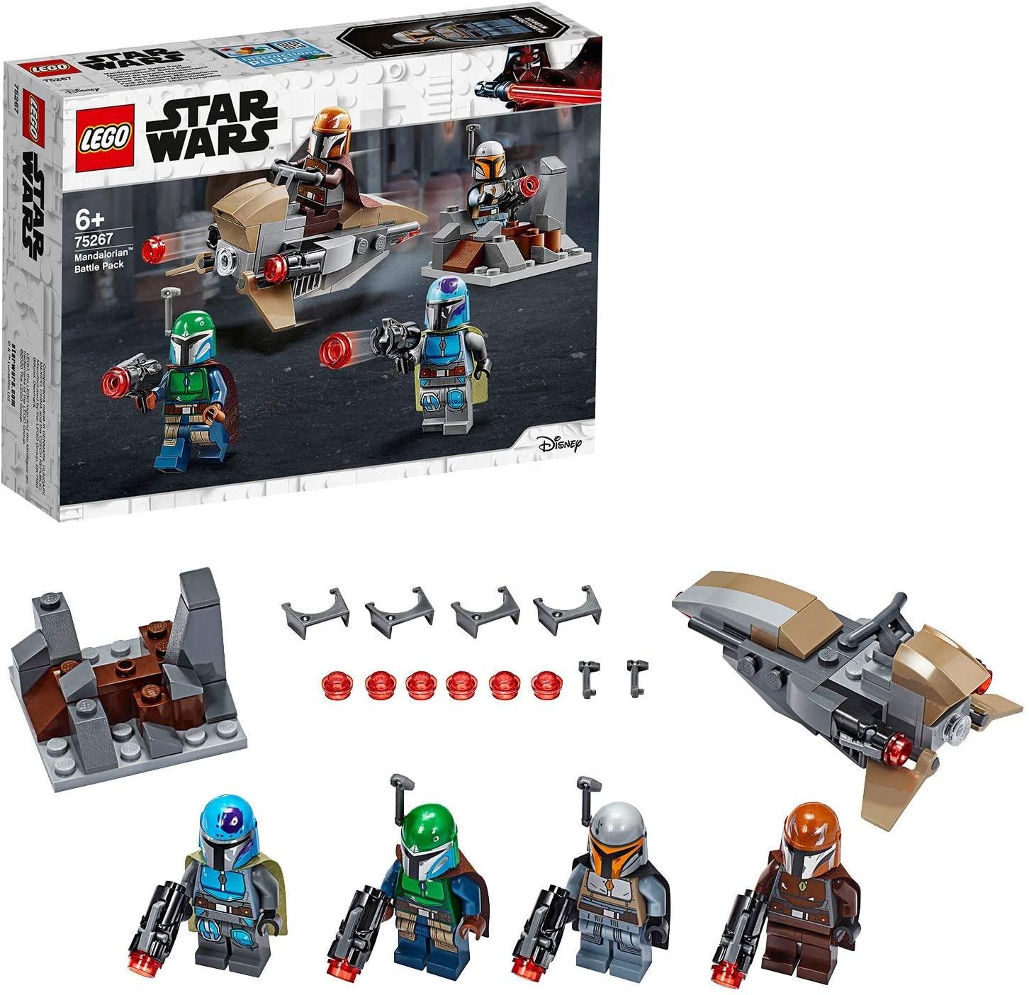 LEGO 75267 Star Wars Mandalorian Battle Pack Set with 4 Minifigures, Speeder Bike and Mini-fort £9.97 (+£4.49 Non Prime) @ Amazon