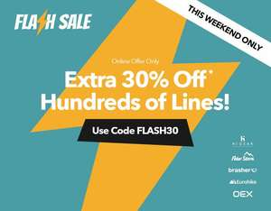Millet's Flash Sale - 30% off goods (BBQ's, Tents and Clothing) this weekend only