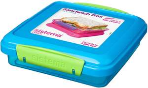 Sistema Lunch Sandwich Box, 450 ml - Assorted Colours £2.49 (+£4.49 NP) Delivered @ Amazon