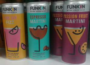Funkin 'Nitro' cocktails - Passion Fruit or Espresso Martinis, Pink Gin Fizz - 79p at Home Bargains, New Brighton