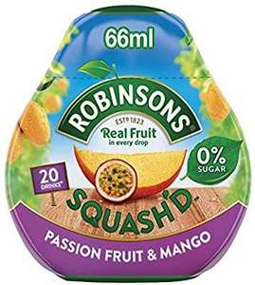 Robinsons Squash'd Makes 20 Drinks Passion Fruit & Mango - £1.50 (Prime) / £5.99 Non-Prime @ Amazon