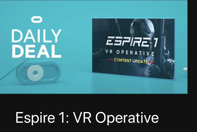 Espire 1: VR Operative Oculus Quest at Oculus for £18.99