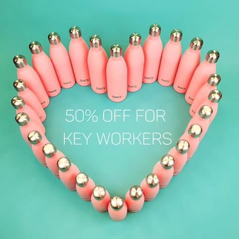 50% Key Worker Discount - SHO Reusable Bottle (£15.98 delivered)