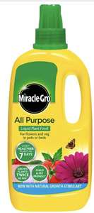 Miracle-Gro All Purpose Concentrated Liquid Plant Food 1L £2.50 + £5 delivery at Wilko