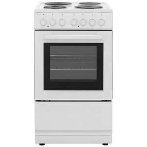 Electra SE50W 50cm Electric Cooker with Solid Plate Hob - White - A Rated £159 delivered at AO