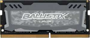 Crucial Ballistix Sport LT 4GB (1x4GB) CL16 DDR4 2666MHz SODIMM Laptop Memory - £17.99 delivered at Crucial