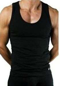 3 x Plain Black/White Mens 100% Cotton Vests - £4.99 @ bitsandthebobs / eBay