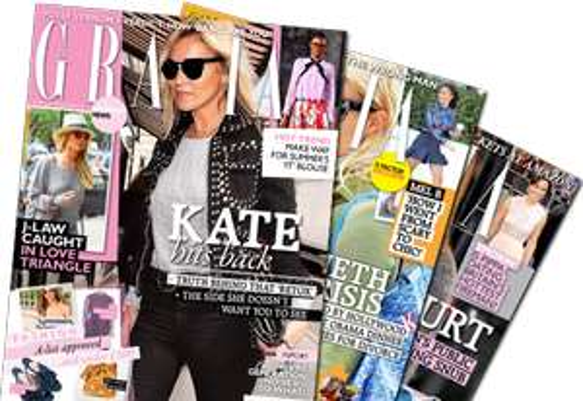 Free Copy of Grazia Magazine, Britain's first, weekly glossy magazine for women