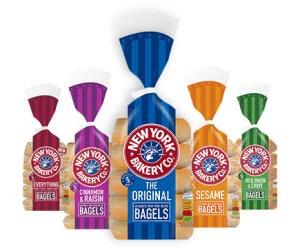 New York Bakery Bagels 5 pack (Original / Wholemeal / Sesame / Red Onion & Chive / Cinnamon & Raisin) £1 @ Tesco
