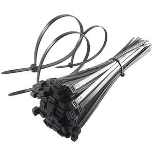 Cable Ties 250mm x 4.8mm Black Cable Plastic Tie Wraps Zip PACK OF 200 Units - £2.99 @ garmentzone / eBay