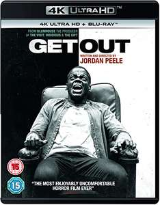 Get Out (4K UHD) [Blu-ray] [2017] £9.99 (Prime) / £12.98 (non Prime) at Amazon