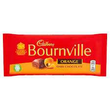 Cadbury Bournville Orange, Dark Chocolate Bar 180g. £1. Heron Foods (Abbey Hulton)