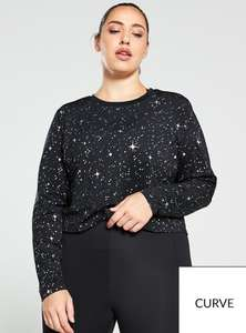 Womens Nike Pro Starry Night LS Top (Curve) Now £15 Sizes 18-20 , 22- 24, 26-28 delivery is £3.99 @ Very