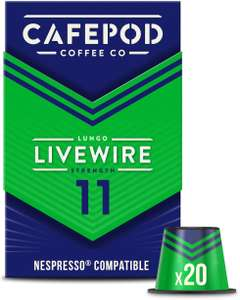 """Cafepod """"livewire"""" nespresso compatible pods x 120 £19.99 (+£4.49 Non Prime) Sold by CafePod and Fulfilled by Amazon"""